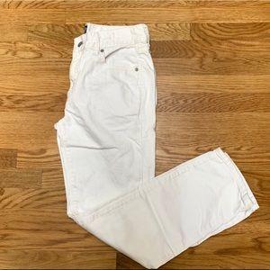 Gap 26 White Denim Best Girlfriend Ankle Jeans